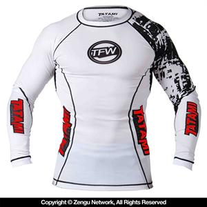 Tatami Long Sleeve Flex Rashguard -  White